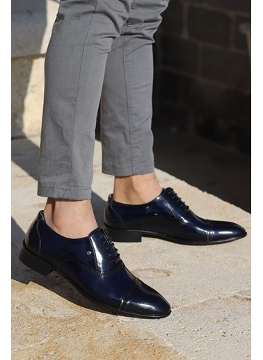Ayakland Ayakland P546 Rugan %100 Deri Klasik Erkek Ayakkabı Lacivert
